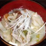 スープスープを使って、おかずになる豚汁