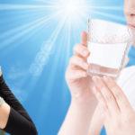 標準体型でも要注意の「夏血栓」。むくみは水分不足のサイン、水分とエンザミンでサラサラ生活